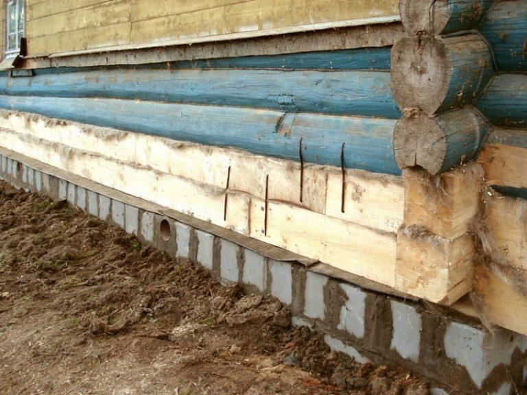 замена нижнего бруса деревянного дома своими руками