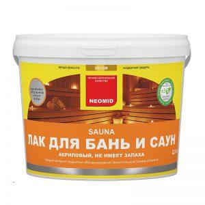 Неомид (Neomid) SAUNA - лак для бани